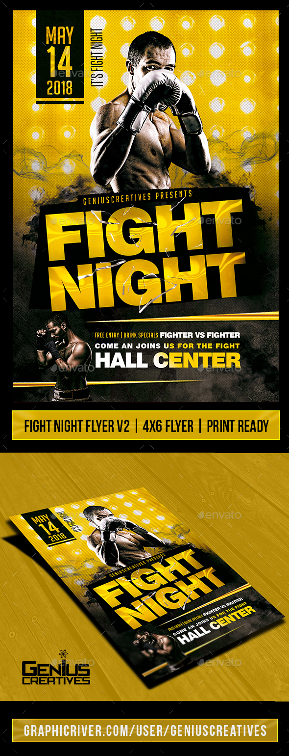 fight poster graphics designs