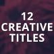 12 Creative Titles