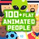 100+ Flat Animated Icons (People)