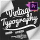 Vintage Typography Pack 26 Animated Badges | Mogrt