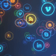 Neon Social Networks Icons