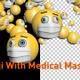 Emoji With Medical Mask 3D 2