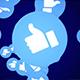 Four Falling Social Network Like Emoji with Alpha Channel (4 Videos))