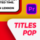Pop Titles Pack