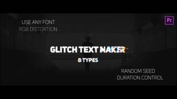 Glitch Text Maker for Premiere Pro