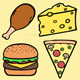 Cartoon Tasty Food Backgrounds