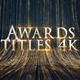 Awards Titles 4K and Awards Background Loop 4K
