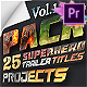 25 SuperHero Titles Pack For Premiere Pro | Mogrt