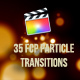 FCPX particle transitions