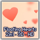 Floating Hearts 3D HD