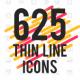 625 Thin Line Icons