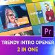 Trendy Intro Opener | Premiere Pro