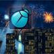 City Firework Logo Reveal 4K