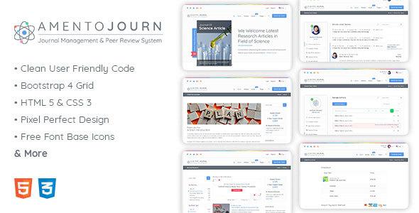 , Amentojourn – Journal Management and Peer Review System, Laravel & VueJs