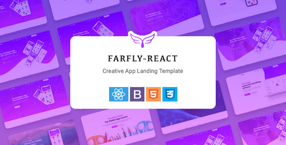 , Farfly – Creative App Landing React Template, Laravel & ReactJs