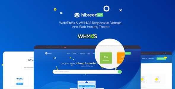 hibreed - WordPress & WHMCS Hosting Theme
