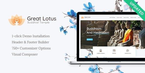 GreatLotus | Oriental Buddhist Temple WordPress Theme