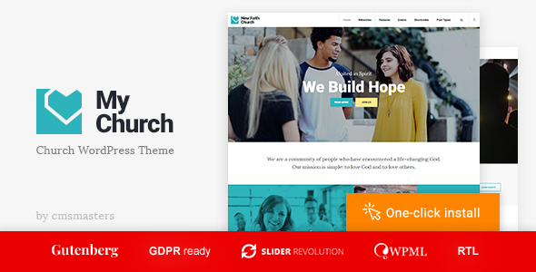 MyChurch - Religion WordPress Theme with Events, Donations & Sermons