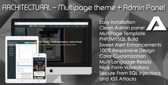ARCHITECTURAL ~ Multipage theme + Admin Panel - PHP Script Download 1