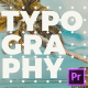 Creative Short Typo Opener for Premiere Pro