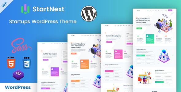 StartNext - Startups WordPress Theme