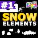 Cartoon Snow Elements   FCPX