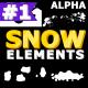 Cartoon Snow Elements   Motion Graphics Pack