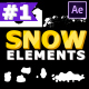Cartoon Snow Elements   After Effects