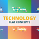 Technology - Typography Flat Concept