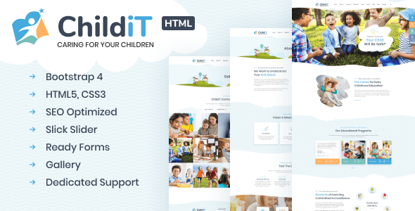Childit – Kindergarten HTML Template – Script-News