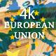European Union Map over 50 Euros Banknotes