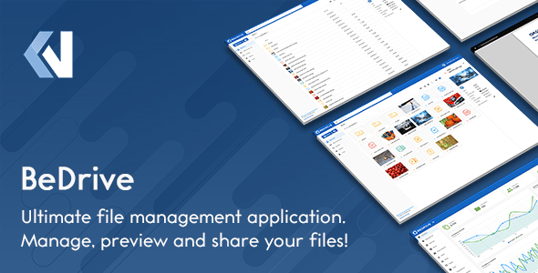 , BeDrive – File Sharing and Cloud Storage, Laravel & VueJs