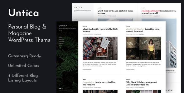 Untica - Personal Blog & Magazine WordPress Theme