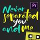 Lyric Video Template 2 - Premiere Pro