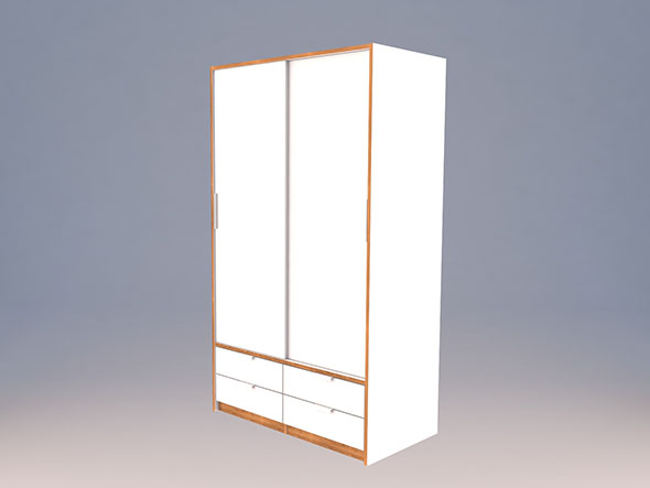 Ikea TRYSIL wardrobe Low-poly 3D model