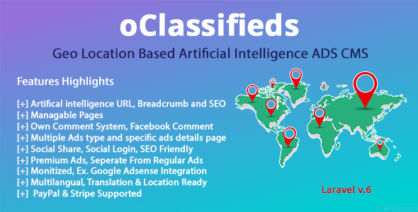 , oClassifieds – PHP and Laravel Geo Classified ads cms, Laravel & VueJs, Laravel & VueJs
