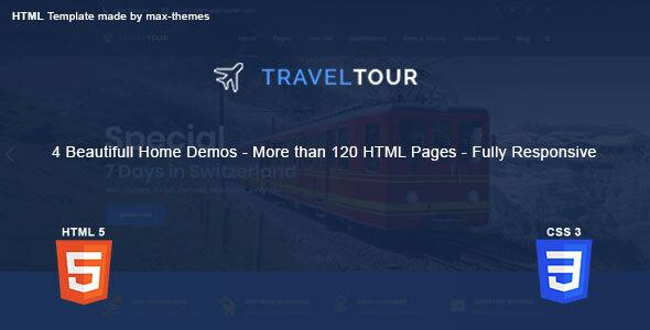 , Travel Tour – HTML Template, Laravel & VueJs