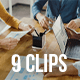 Collection of Happy People Working in Modern Creative Office, Pack of 9 Clips
