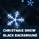Christmas Snow With Black Background