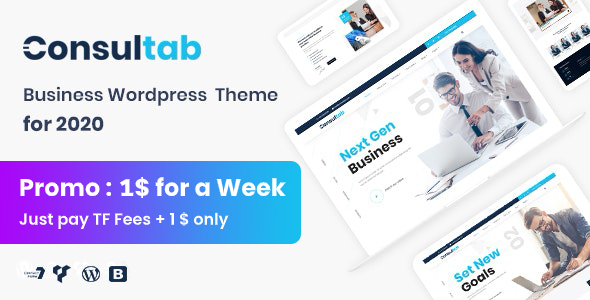 Consultab - Consulting Business & Finance WordPress Theme