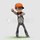 Cartoon Kid with Dancing Gangnam