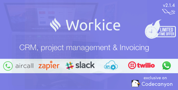 , Workice – The Ultimate Freelancer CRM, Laravel & VueJs