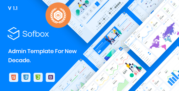 , Sofbox Admin – Cleanest HTML Dashboard Template with SoftUI, Laravel & VueJs
