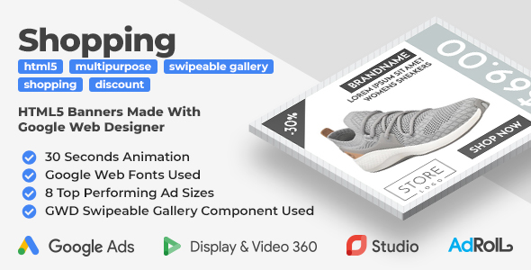 Browsing HTML5 Banners with GWD Swipeable Gallery  - PHP Script Download 1