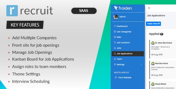 , Recruit SAAS – Recruitment Manager, Laravel & VueJs, Laravel & VueJs