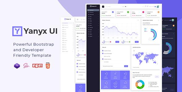 , Yanyx UI – Bootstrap 4 + Laravel Starter Kit Admin Dashboard Template, Laravel & VueJs, Laravel & VueJs