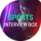 Sports Interview Box Template