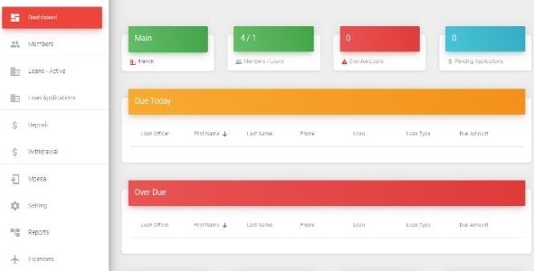 , Signal Loans – Lending and Credit Management App for Micro Finance Business., Laravel & VueJs