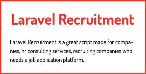 , Laravel Recruitment Management System, Laravel & VueJs
