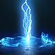Vortex Lightning Explosion Logo